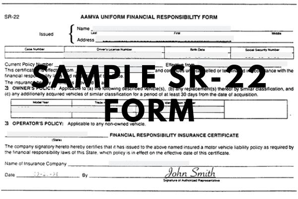 sample sr-22