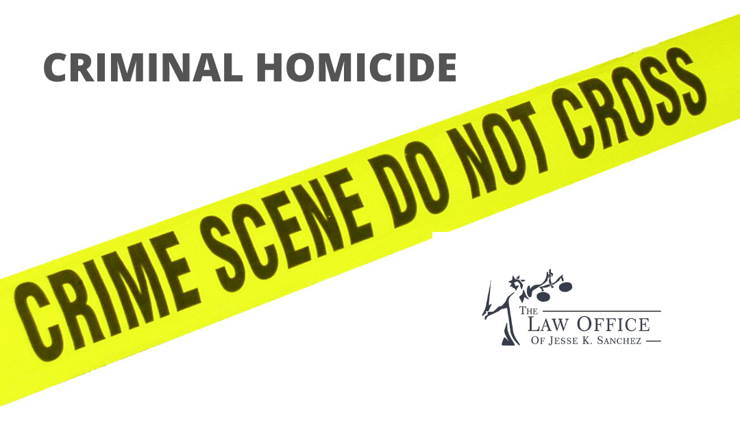 What is Criminal Homicide?