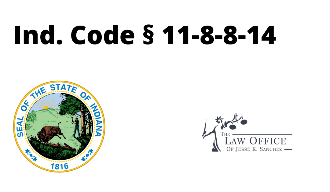 Ind. Code § 11-8-8-14 – Indiana Sex Offender Reporting Requirements