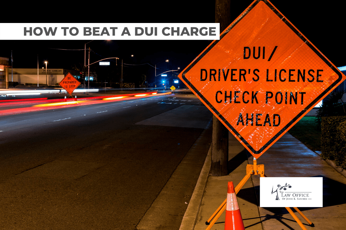 BEATING A DUI CHARGE
